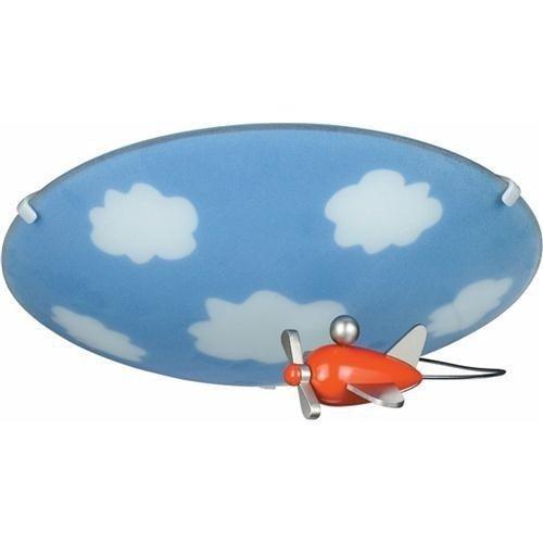 Philips myKidsRoom Sky - Plafón ovalado, iluminación interior, casquillo E27, vidrio y metal, multicolor