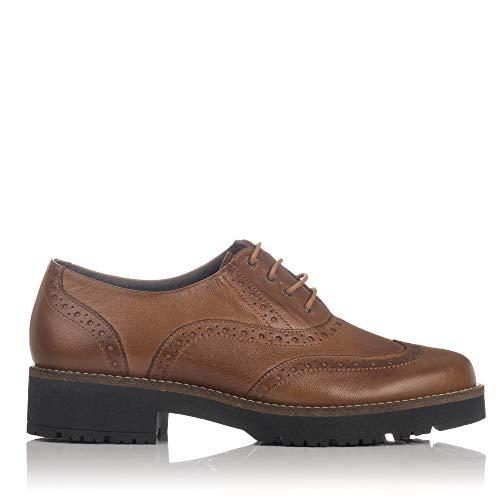 PITILLOS 5390 Zapato Piel Cordones Pala Vega Mujer