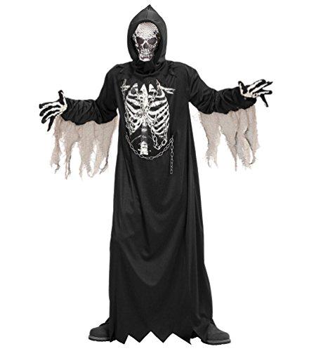 Kostüm Tod Krieger (Karneval Klamotten Sensenmann Kostüm für Herren Der Tod Halloween Herren-Kostüm Größe)