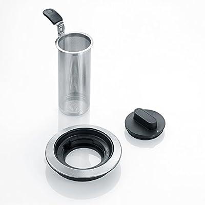 Severin WK3477 Bouilloire pour vous et pour chauffer l'eau à contrôle numérique, transparente/acier inoxydable brossé/noir
