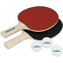 HUDORA Tischtennis-Set Match 2.0-2 Tischtennis-Schläger + 3 Tischtennis-Bälle - 76299