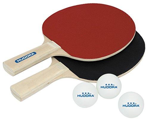 Preisvergleich Produktbild HUDORA Tischtennis-Set Match 2.0 - 2 Tischtennis-Schläger + 3 Tischtennis-Bälle - 76299