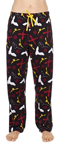 Harry Potter Quidditch Wizarding Sport Adult Black Lounge Pants