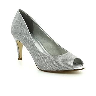 Tamaris Peeptoe Pumps 1-29302-20 Stiletto High Heel, Schuhgröße:36;Farbe:Silber