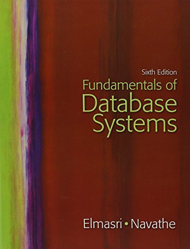 Fundamentals of Database Systems with Oracle 10g Programming: A Primer (6th Edition) by Ramez Elmasri (2010-04-10)