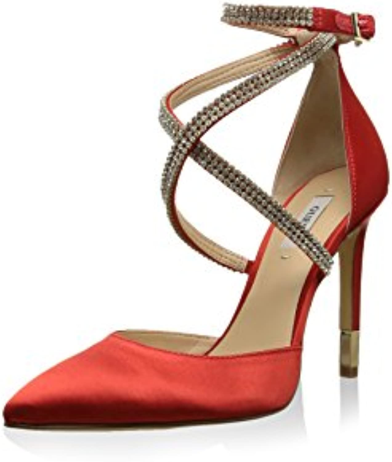 GUESS Damen Pumps Highheels Stilettos Riemchensandalen Rot