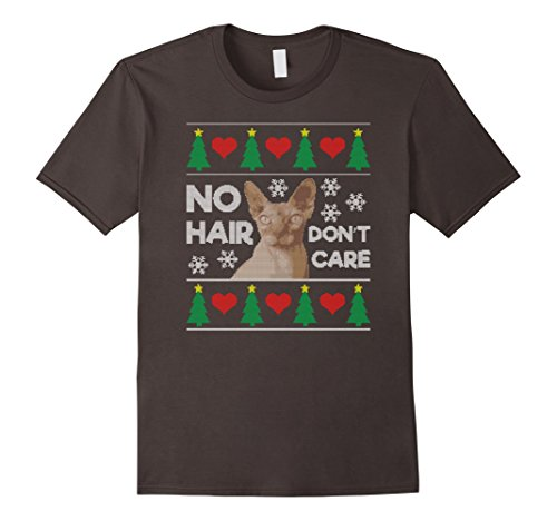 Hairless Cat Ugly Christmas Sweater Sphynx Cat T-Shirt
