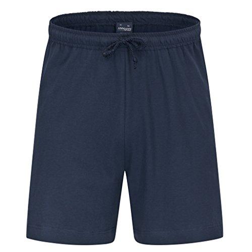 Shirt Match Herren (AMMANN - Herren Schlafanzug Mix & Match - frei kombinierbar - Hose kurz oder lang - Shirt kurz oder langarm - bis Größe 5XL (62) - 100% Baumwolle (XL - 54, Hose kurz - Dunkelblau - Uni))