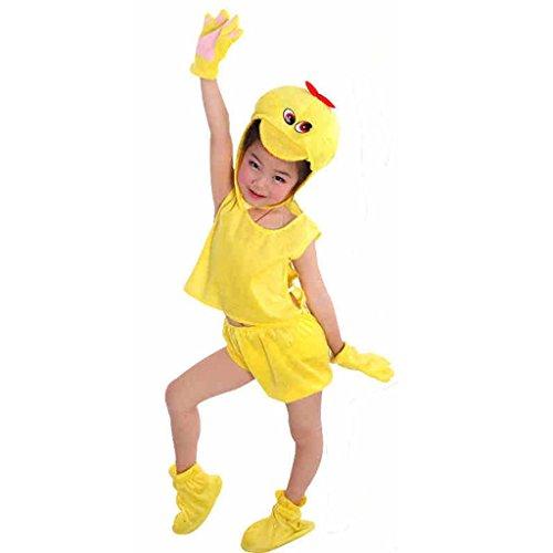 Byjia Kindertier Performance Tanz Kostüme Kindergarten Gelbe Enten Sammlung Kinder Kostüm Schule Spiel Party Bekleidung Unisex Sets 1# (Tanz Kostüm Sammlung)