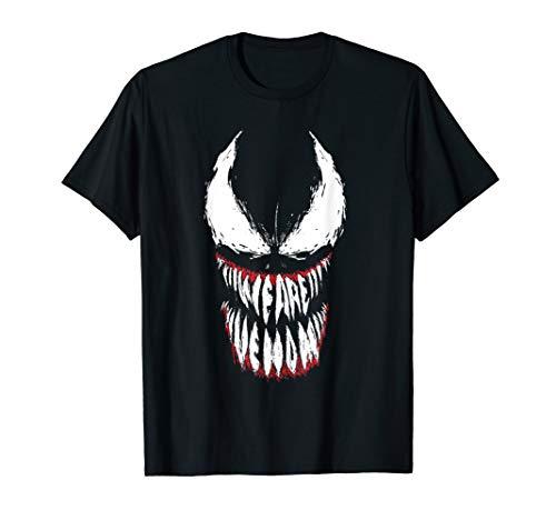Marvel Venom Face Logo Grin T-Shirt (Spiderman Shirt Damen)