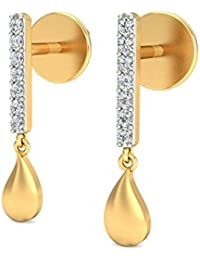 Belle Diamante 18KT Yellow Gold and Diamond Dangle & Drop Earring