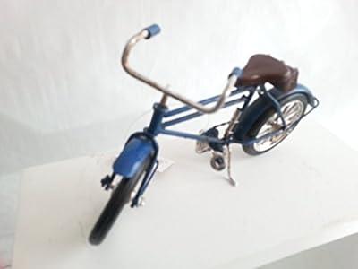 Fahrrad Herrenrad blau, Metall, Retro Modell, 16x8 cm