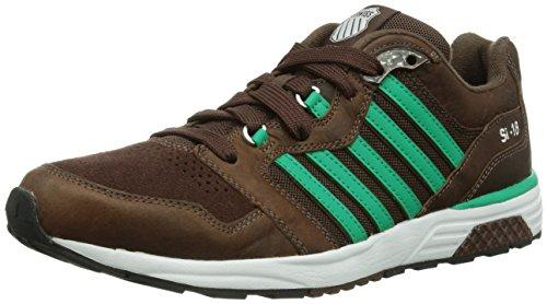 K-Swiss - ~Si-18 Rannell 2~~Buffalo//Emrld Glz/Wht~~M~, Sneakers da uomo, marrone (buffalo/emerald glaze/ 206), 40
