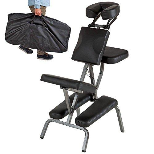 Massagestühle Tragbar Falten Massagesessel Leder Pad Professional Einstellbar Massage Schemel Mit Tragen Tasche