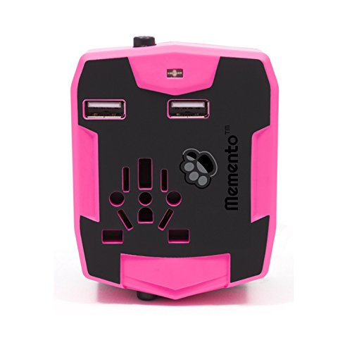 Universal Power Bank (REDUZIERT WEITER Memento Multifunktionaler Weltraumadapter REISE ADAPTER | AllinOne POWER SUPPLY und PLUG CONVERTER WITH 2.5A FAST CHARGE Dual USB Ports AND 6000mAh POWER BANK (Pink))