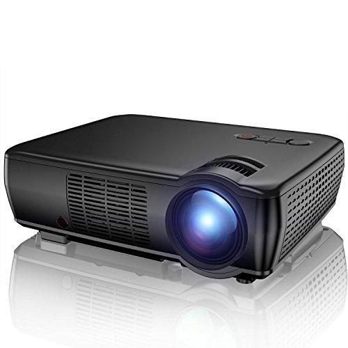 "Beamer, TENKER Heimkino Videoprojektor Multimedia Mini 5.0"" LCD Beamer 2400 Lumen Full HD mit 176 Inch Display Unterstützt 1080p HDMI VGA AV USB für Outdoor & Indoor Movie Nights und Videospiele"