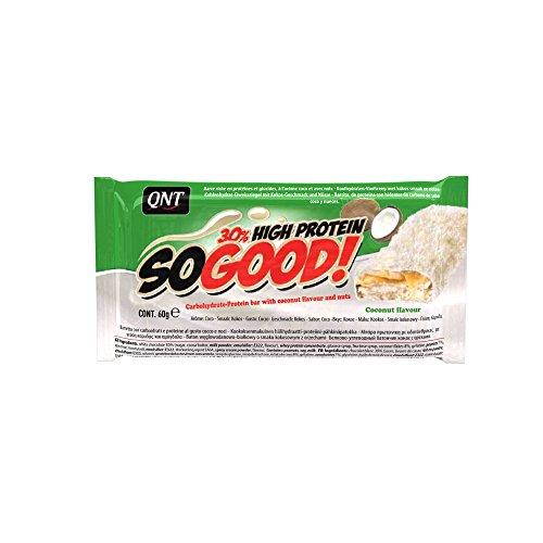 QNT So Good 60g chocolate blanco y coco; 15 barritas
