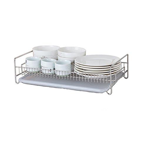 &étagère de rangement Bowl Shelf 304 Inoxydable Incorporated Drain Rack Kitchen Bowl Etagère Filtre à eau Porte-gobelet Plateau à thé Fournitures Bols incorporé étagère 41 * 22.5 * 11 Rack de finition
