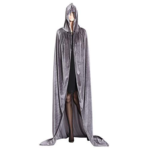 (YHLVE Halloween-Kostüm, Cape Cloak Hooded Robe/Vampir Zauberer Teufel Erwachsene Cosplay Kostüm/Held Maskerade Party Performance)