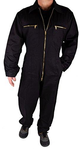 Stabiler Arbeitsoverall Arbeitskleidung Overall in verschiedenen Farben, Schwarz, 50