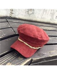Casquillo de los sombreros de moda Sombrero de copa plano de otoño e  invierno. Gorra 6ab39874839