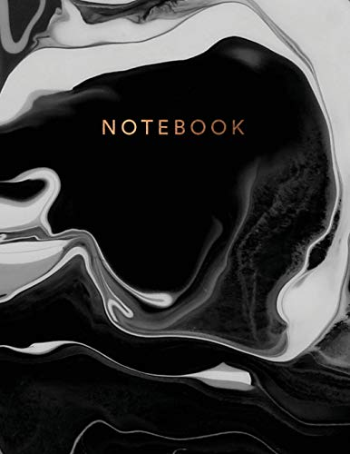 Notebook: Beautiful black marble gold bronze lettering|  ★ School supplies ★ Personal diary ★ Office notes  |  8.5 x 11 - big  notebook | 150 pages | ... (Black marble bronze collection, Band 27)