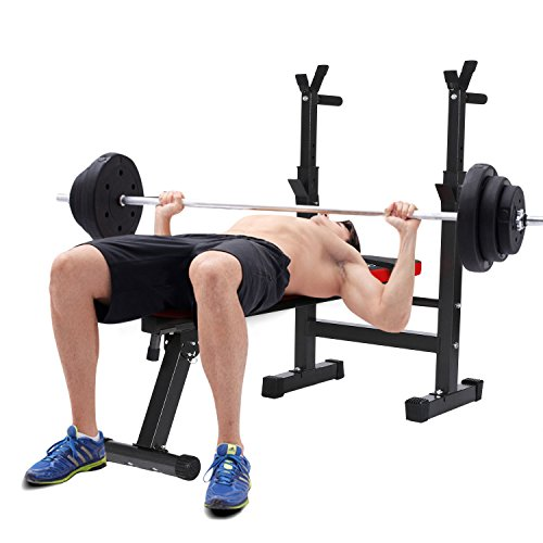 Ancheer Banc de musculation pliable avec support...