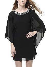 Schwarzes langes kleid mit fledermausarmeln