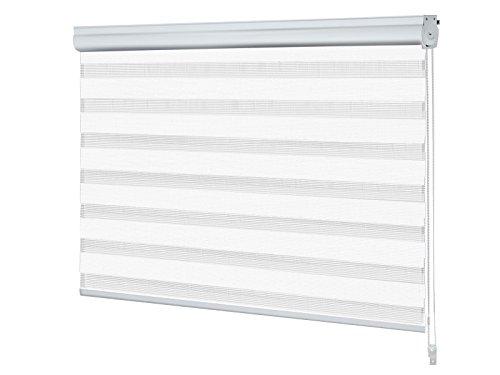 Store nuit jour blanc casa pura® avec coffre | enrouleur | facile a poser | 90x150cm, 6 couleurs