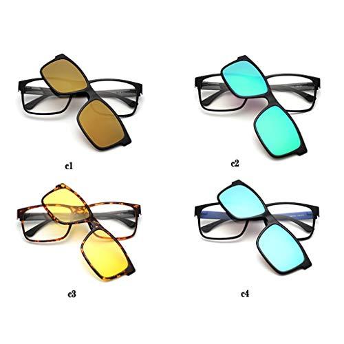 Axclg Reading glasses Magnetische Anziehung HüLsenklemm Lesebrille Sonnenbrille Nachtsichtbrille, EIN Paar GläSer, Zwei Zwecken, Vier Arten Von Farben Zur Auswahl