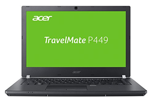 Acer TravelMate P449-M-74TW 35,56 cm (14 Zoll Full HD IPS matt) Office Notebook (Intel Core i7-6500U, 8 GB RAM, 256 GB SSD + 1000 GB HDD, USB 3.0, Intel HD, Win 7 Pro und Win 10 Pro) schwarz