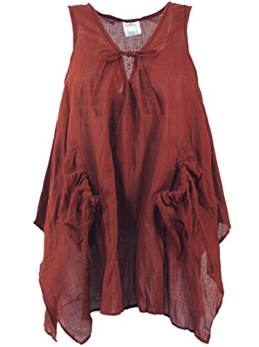 Top krinkelt - rosso scuro/camicette Rosso