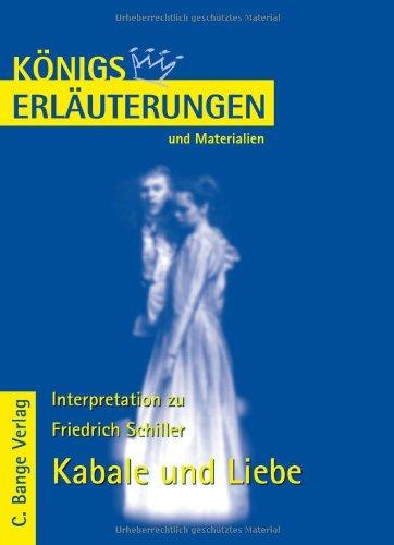 Königs Erläuterungen und Materialien, Bd.31, Kabale und Liebe