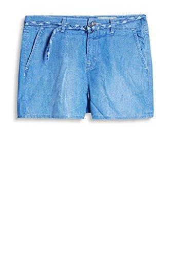 edc by ESPRIT Damen Shorts Blau (Blue Medium Wash 902)