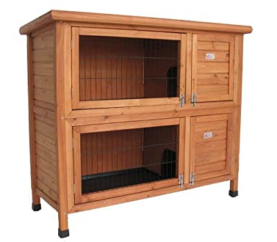 Bunny Business Double Hutch Rabbit/ Guinea Hutch Run, 48-inch by M.D.C Imports Uk