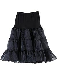Sourcingmap Women Vintage 50s Rockabilly Crinoline Tutu Underskirt Fancy Petticoat