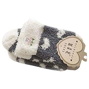 TO_GOO Art und Weise weiche beiläufige Liebe-halbe SAMT-Socken-Boden-weibliche Socken 1 Paar