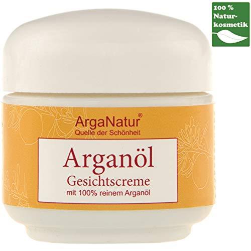 Bio Arganöl & Kaktusfeigenkernöl Gesichtscreme Tagescreme ArgaNatur 50ml 100{777f4ddf671ddb7bda43fb6b29c5d2ce99c675278e5187fa309a68ada64aad9b} reines BIO Vegan Creme Bio Natur-Kosmetik für Körper, Gesicht & Haut Cremig Naturcreme ohne Farnstoffe, Anti-Falten