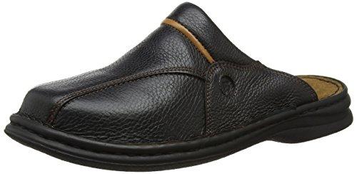 Josef Seibel Klaus Herren Clogs | Echtleder-Herrenschuhe für drinnen und draußen | Komfort-Schuhe aus Rindsleder, Schwarz (611 schwarz/cognac), 43 EU -