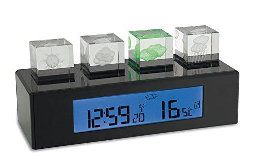 TFA Dostmann Wetterstation Crystal Cube 35.1110, schwarz