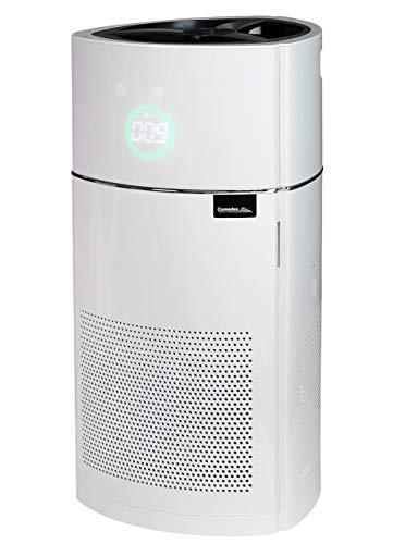 Comedes Lavaero 900 Luftreiniger, 5-Stufen-Filter, HEPA-Kombifilter inkl. Aktivkohlefilter, Ionisator und Luftqualitätssensor, Ideal für Allergiker und Raucher, für Räume bis 60m²