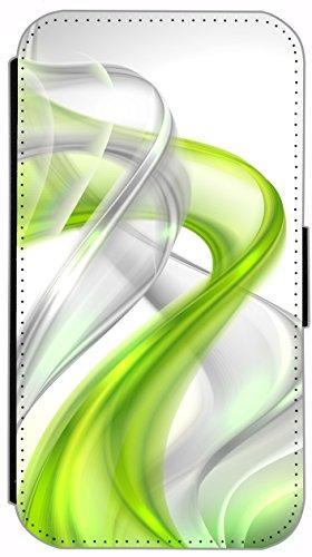 Flip Cover für Apple iPhone 5 5s Design 394 Eifelturm Paris Frankreich bei Nacht Blau Gelb Hülle aus Kunst-Leder Handytasche Etui Schutzhülle Case Wallet Buchflip (394) 390