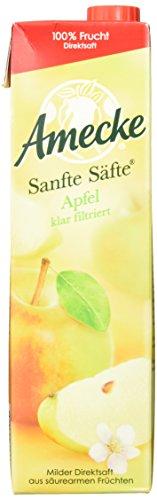 Amecke's Sanfte Säfte Apfel klar, 6er Pack (6 x 1 l Packung) (Apfelsaft 1 Liter)