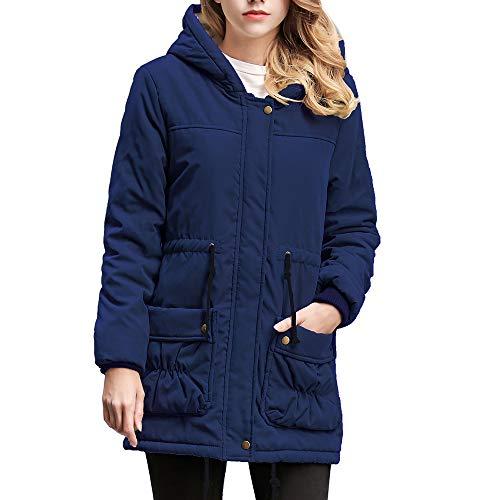 JURTEE Damen 2019 Jacken, Warme Lange Mantelkragen Kapuzenjacke Damen Winter Parka Outwear ()