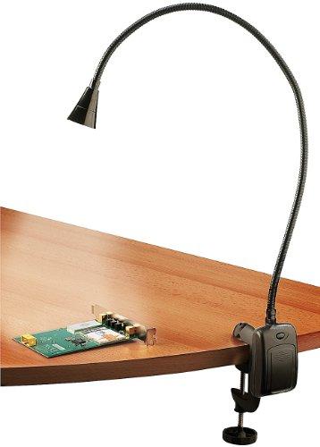 Lunartec Grilllampe: LED-Grill-, BBQ- & Arbeits- Schwanenhals-Lampe mit Schraubklemme (Flexible LED Leuchte)