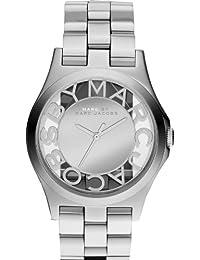 Marc Jacobs MBM3205 - Reloj de cuarzo para mujer, correa de acero inoxidable color plateado
