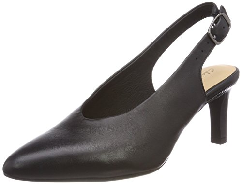 Clarks Damen Calla Violet Slingback Pumps, Schwarz (Black Leather), 40 EU