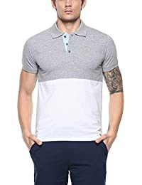 AMERICAN CREW Men's Color Block Polo T Shirt