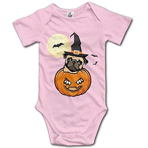 een Mops Hund lustige Kleinkind Baby Outfit Creeper kurzen Ärmeln Overalls ()