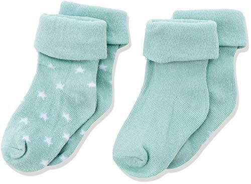 Noppies Unisex Baby U 2 pck Levi Stars Socken, Grün (Grey Mint C175), One Size (Herstellergröße: 3M-6M)